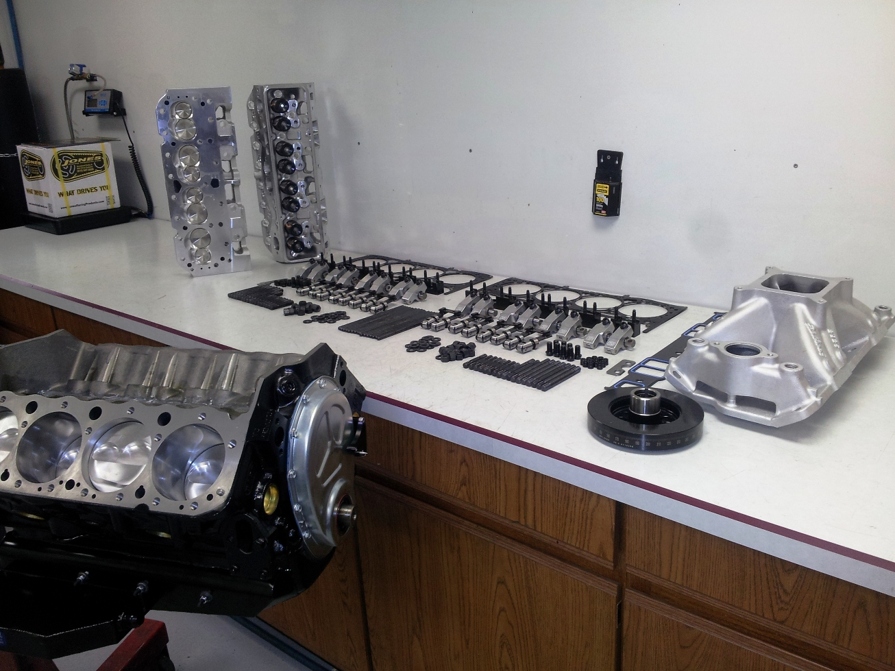 Late Model engine ready for assembly.