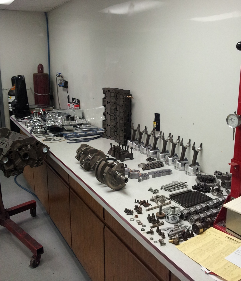 Engine blueprinted and ready for assembly.