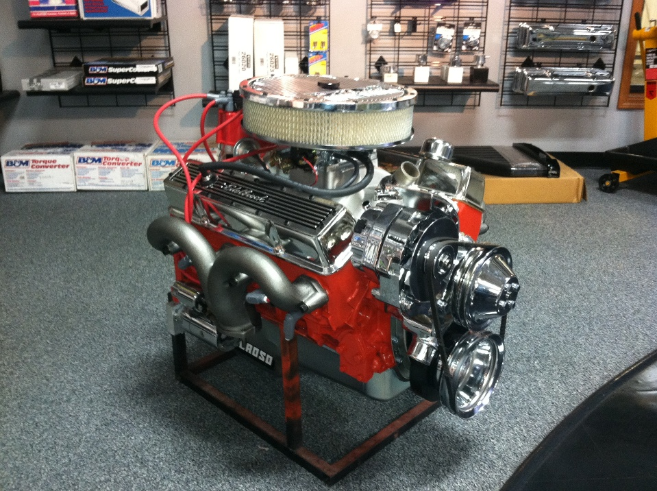 Complete engine assembly.